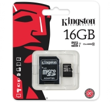 Thẻ nhớ Kingston Micro SDHC 16GB Class 10, UHS-I