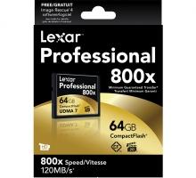 Thẻ nhớ CF Lexar 64GB 800X~120MB/s