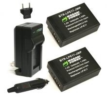 Bộ 2 viên pin và 1 sạc Wasabi for Canon LP-E17
