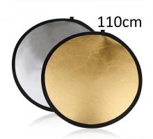 Hắt sáng tròn 2 in 1 vàng-bạc, size 110cm