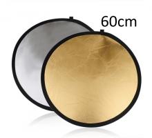 Hắt sáng tròn 2 in 1 vàng-bạc, size 60cm