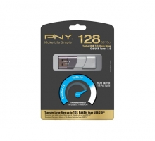 USB 3.0 PNY 128GB Turbo Flash Drive Clé P-FD128TBOP-GE