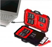 Đầu đọc thẻ kiêm Hộp đựng thẻ nhớ Backpacker, 3CF, 2SD, 3 Micro, 1 Chọc sim, tặng 1 chọc sim