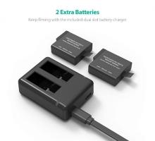 Bộ 2 pin 1 sạc đôi RavPower PR-PB074 cho Gopro 5,6,Hero