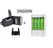 Combo Đèn Flash Shanny SN600N và Bộ Pin+sạc GP