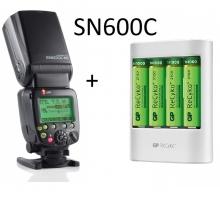 Combo Đèn Flash Shanny SN600C và Bộ Pin+sạc GP