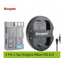 1 Pin 1 Sạc Kingma cho pin Nikon EN-EL3E