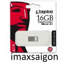 Kingston 16GB DTMicro USB 3.1, nguyên khối, không nắp