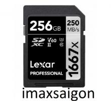 Thẻ nhớ 256GB SDXC Lexar Professional 1667x UHS-II250/90 MBs