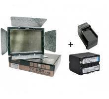Bộ Đèn YN600 + Pin  + Sạc