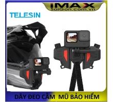 Gắn GoPro và Action Cam lên cằm mũ bảo hiểm-TELESIN