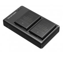 Bộ 2 pin 1 sạc máy ảnh Ravpower  cho Nikon EN-EL14