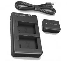 Bộ 1 pin 1 sạc đôi máy ảnh Ravpower cho Sony NP-FW50