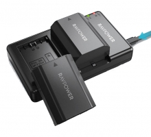 Bộ 2 pin 1 sạc máy ảnh Ravpower for Sony FZ100 (SONY A9, A7R III, A7 III)