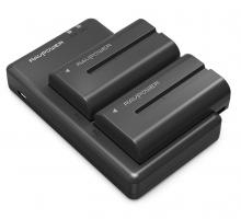 Bộ 2 Pin 1 Sạc máy ảnh Ravpower cho Sony NP-F550
