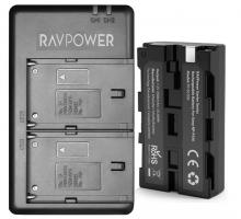 Bộ 1 Pin 1 Sạc máy ảnh Ravpower cho Sony NP-F550