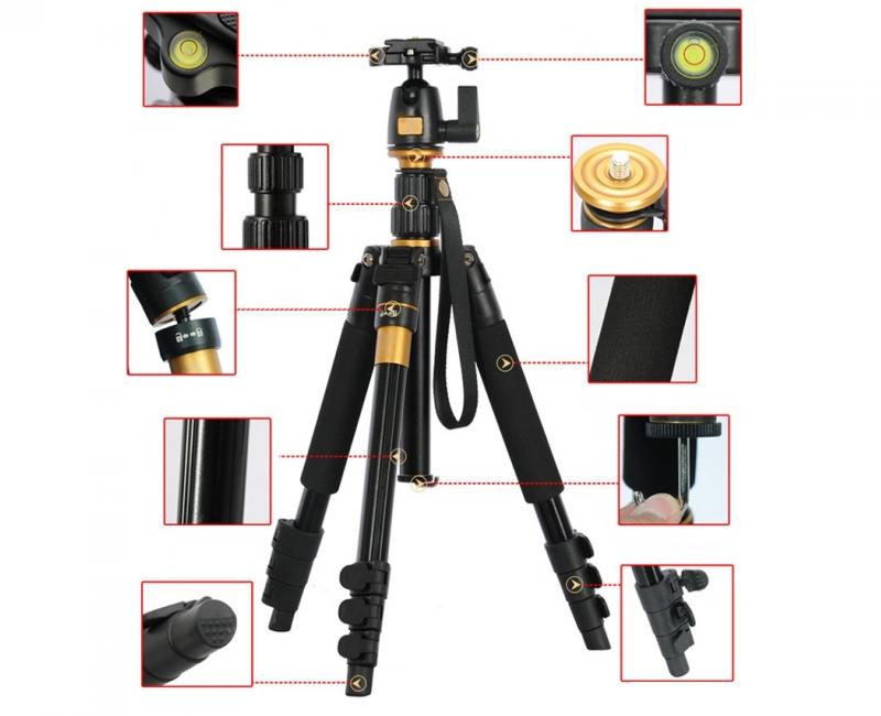 Chân máy ảnh Tripod/ Monopod Beike Q-555 9