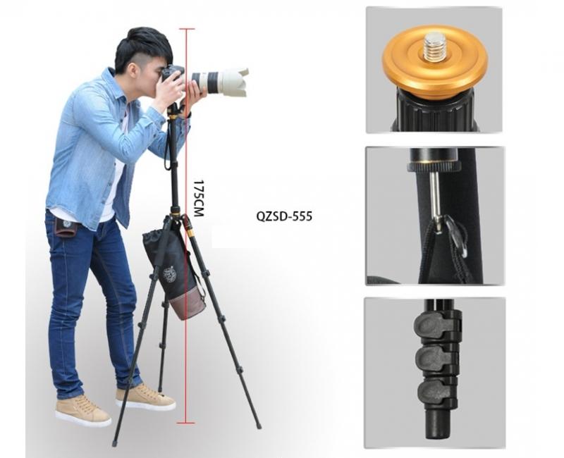 Chân máy ảnh Tripod/ Monopod Beike Q-555 15