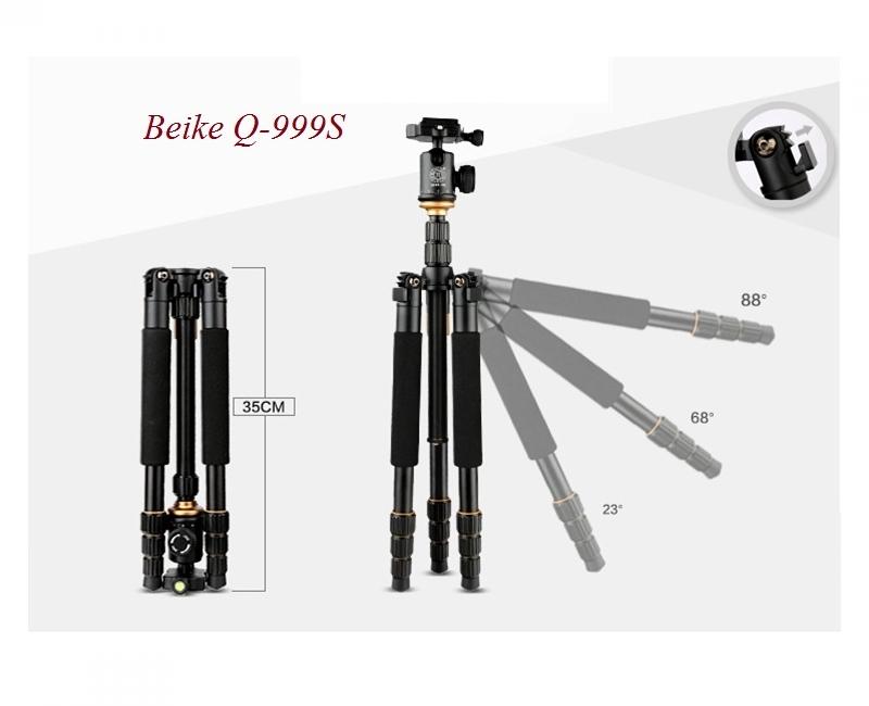 Chân máy ảnh Tripod/ Monopod Beike Q-999S 1