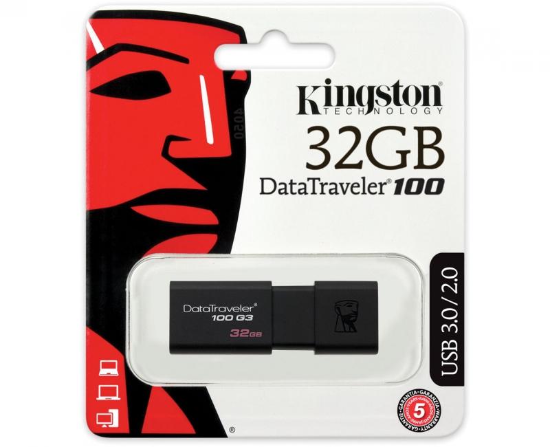 USB 3.0 KINGSTON DATATRAVELER 100 G3 32GB 4