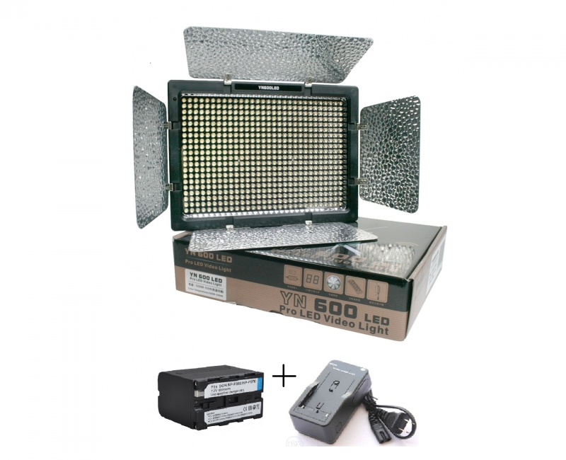 Bộ Đèn YN600 + Pin  + Sạc 1