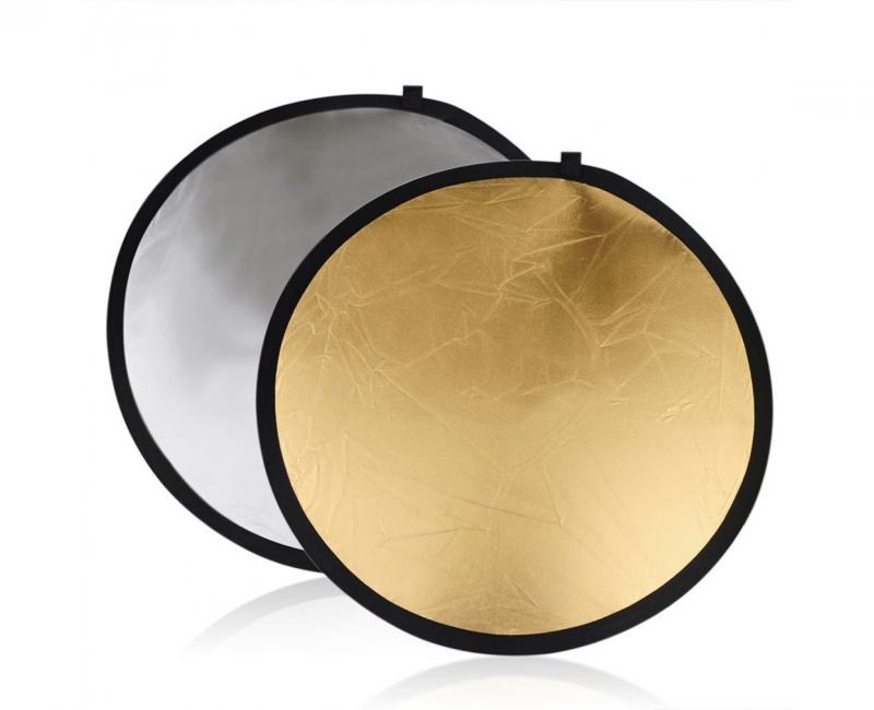 Hắt sáng tròn 2 in 1 vàng-bạc, size 80cm 1