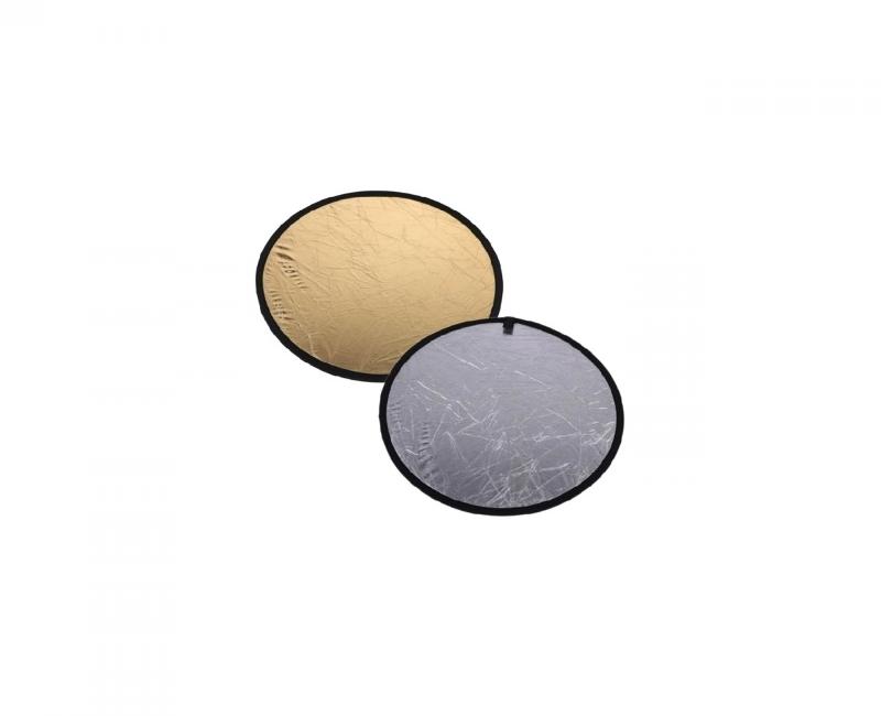 Hắt sáng tròn 2 in 1 vàng-bạc, size 80cm 2