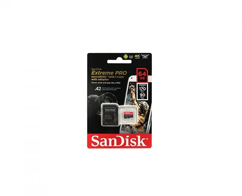 Thẻ nhớ Sandisk microSDXC A2 170/90 MB/s 64GB  Extreme Pro 4