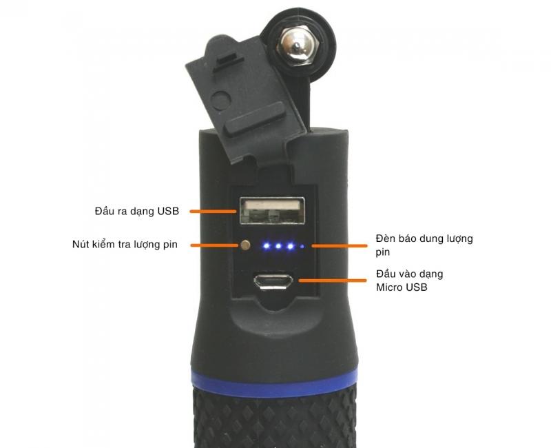 Pin sạc dạng cầm tay Wasabi cho Gopro - Power Hand Grip 4