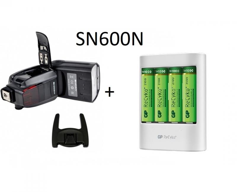 Combo Đèn Flash Shanny SN600C và Bộ Pin+sạc GP 1