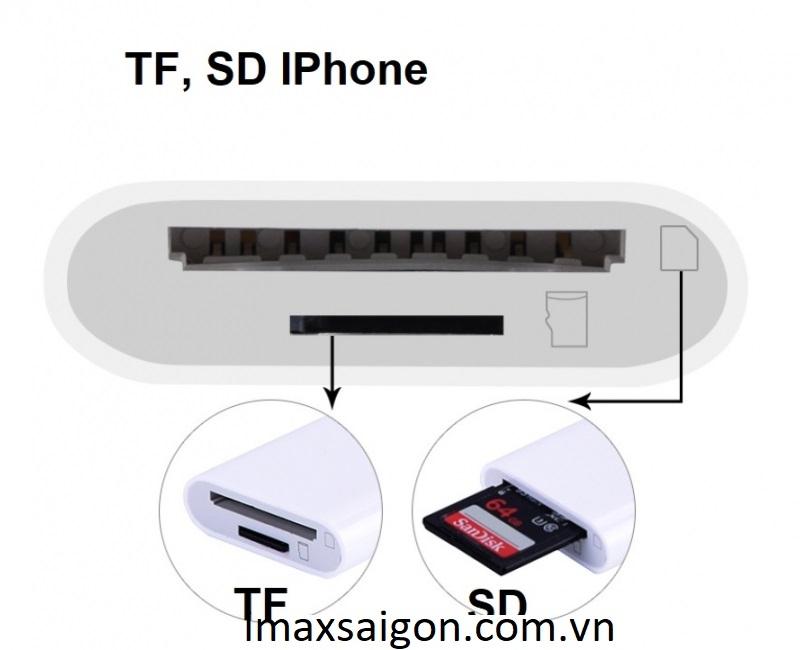 ĐẦU ĐỌC THẺ TF, SD CHO IPHONE 3