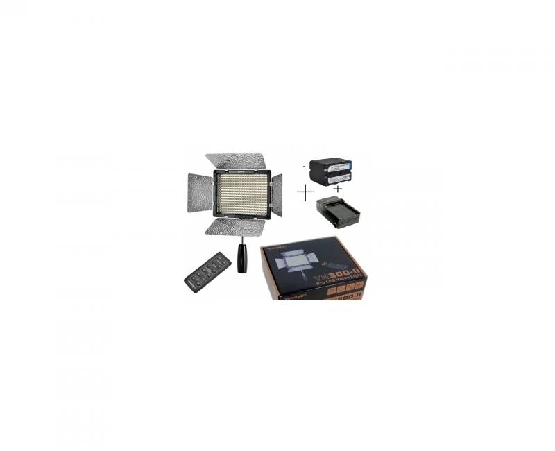 Bộ Đèn YN 300 II + Pin F970+ Sạc 2