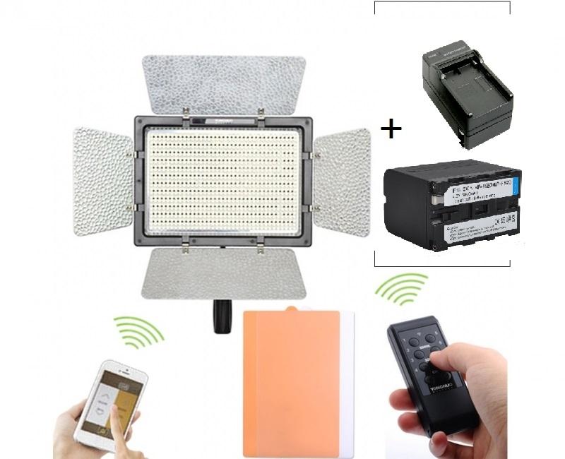 Bộ Đèn YN-900 + Pin  + Sạc 4