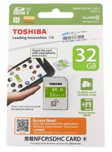 Thẻ nhớ SDHC Toshiba NFC 32GB Class 10