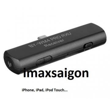 MICRO THU ÂM KHÔNG DÂY BY-WM4 PRO RXU ( iPhone, iPad, iPod Touch...)