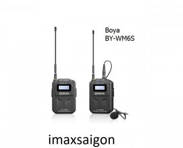 MICRO THU ÂM KHÔNG DÂY BOYA BY-WM6S THẾ HỆ UHF MỚI, CHÍNH HÃNG