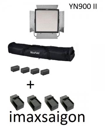 ĐÈN LED YONGNUO YN900 II + 4 pin + 4 sạc