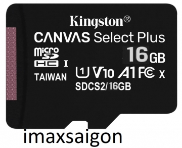 THẺ NHỚ KINGSTON MICRO SDHC 16GB 100MB/S CANVAS SELECT PLUS C10 U1 A1