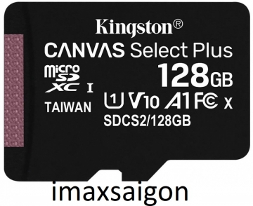 THẺ NHỚ KINGSTON MICRO SDXC 128GB 100MB/S CANVAS SELECT PLUS C10 U1 A1