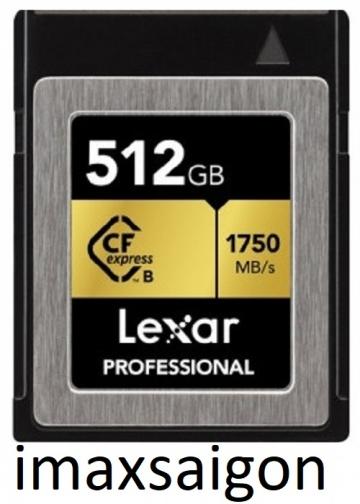 THẺ NHỚ CFEXPRESS TYPE B CARD LEXAR 512GB 1750MB/S