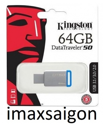 USB 3.1 / 3.0 KINGSTON DATATRAVELER 50 DT50 64GB