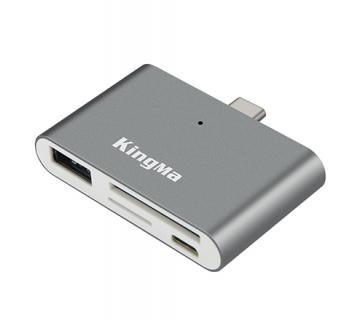ĐẦU ĐỌC THẺ KINGMA TYPE-C BMU008 USB 3.0 (SD-TF) DÙNG CHO ĐIỆN THOẠI DI ĐỘNG, MACBOOK