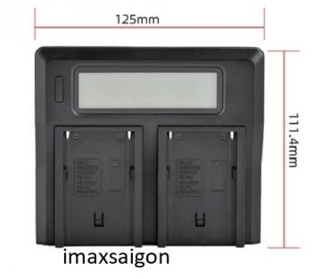 Sạc Đôi LCD Kingma cho pin máy ảnh Sony NP-F750 / F550 / F970