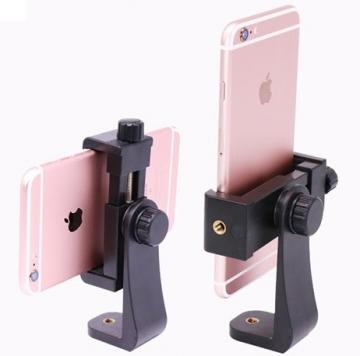 Gá kẹp điện thoại có núm xoáy dùng cho Tripod, gậy Selfie. Xoay 360 độ