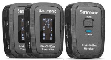 MIC THU ÂM KHÔNG DÂY SARAMONIC BLINK500 PRO B2( 2 Phát + 1 Thu)